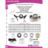 120V LED Dimmable Puck