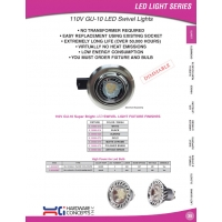 110V GU 10 LED Swivel