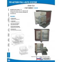 Tri Action Pull Outs System