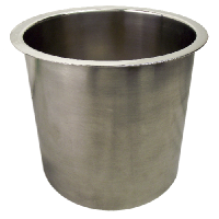 6 Inch X 6 Inch POLISHED STAINLESS STEEL TRASH GROMMET ‐ 6143‐679