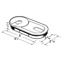 OVAL WIRE GROMMET 5 InchX2.25 Inch ‐ 6385