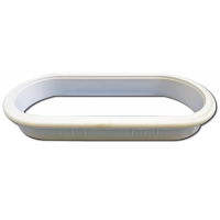 6 Inch X 2.5 Inch OVAL WIRE GROMMET RIM ‐ 6398