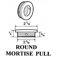 2.125 Inch ROUND MORTISE ‐ 2180