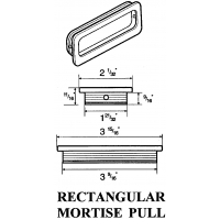 COMMERCIAL RECTANGULAR MORTISE PULL ‐ 2194C