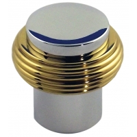 28 X 28 m.m. KNOB CHROME BASE BRASS RING ‐ 9265‐079