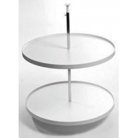 18 Inch ROUND WHITE PLASTIC LAZY SUSAN ‐ 7.07300