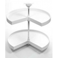24 Inch KIDNEY WHITE PLASTIC LAZY SUSAN ‐ 7.07400