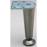 LEG TAPERED ZINC BRUSHED CHROME ‐ 1100‐078
