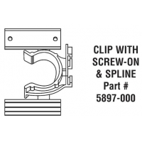 CLIP including SCREW & SPLINE ‐ 5897‐000