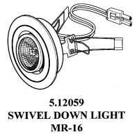 METAL 20 WATTS MR 16 HALOGEN SWIVEL LIGHT ‐ 5.12059