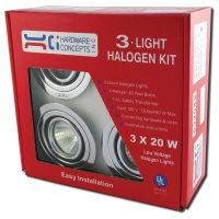 METAL 3 X 20 WATTS MR 16 HALOGEN SWIVEL LIGHT ‐ 5.32059