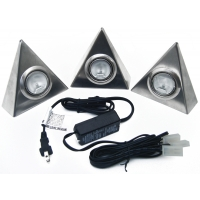 3 LIGHT KIT TRIANGULAR DESIGN STAINLESS STEEL ‐ 5.320AT‐SS