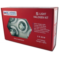 METAL 5 X 20 WATTS MR 11 HALOGEN SWIVEL LIGHT ‐ 5.52038