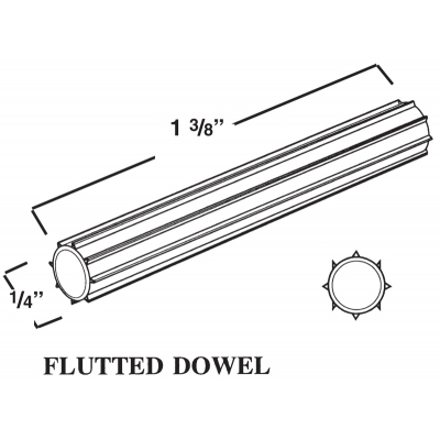 FLUTTED DOWEL BLACK ‐ 1050‐014