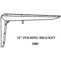 12 Inch FOLDING BRACKET SOLD IN SETS OF 2 ‐ 1080