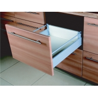 18 Inch DOUBLE WALL UNDER MOUNT SOFT CLOSE FULL EXT. SLIDE 1 RAIL ‐ 6.450DR