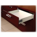 16 Inch STAINLESS STEEL DOUBLE WALL UNDER MOUNT SOFT CLOSE FULL EXT. SLIDE 6.400DSS